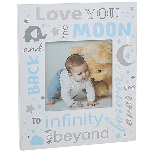 Love You To The Moon And Back Frame - Blue