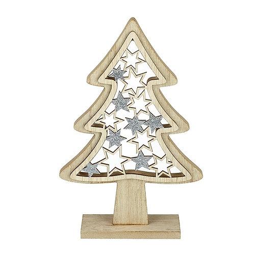 Wooden Glitter Star Tree