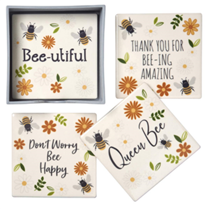 Bee Sayings - Individual Ceramic Coaster