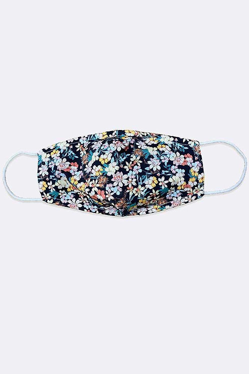 Adults Floral Black Print Cotton Face Mask/Covering