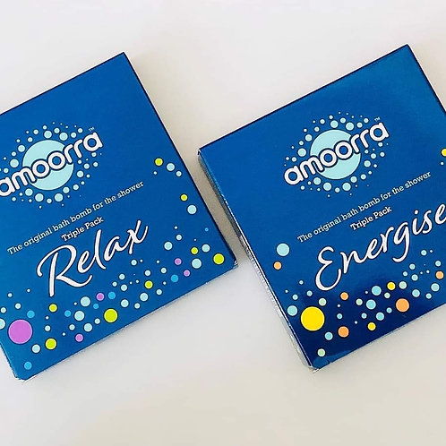 Amoorra - Shower Bomb Triple Pack - Relax