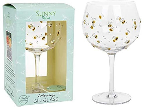 Sunny By Sue - Bee Gin Glass