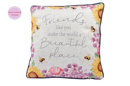 Friends - Floral Bees Cushion