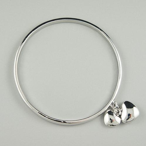 Dubai - Silver Heart Bangle