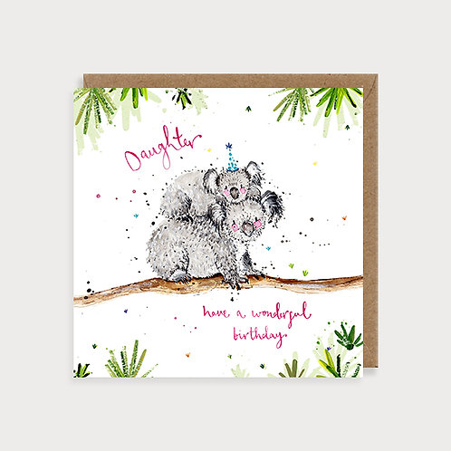Daughter Birthday Card - Koalas