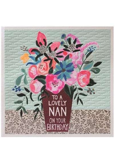 Lovely Nan - Birthday Card
