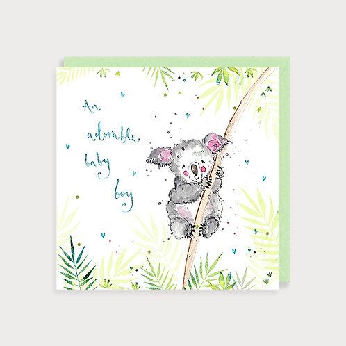 Baby Boy Card - Koala