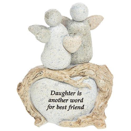 Daughter - Angel Pebble Decoration