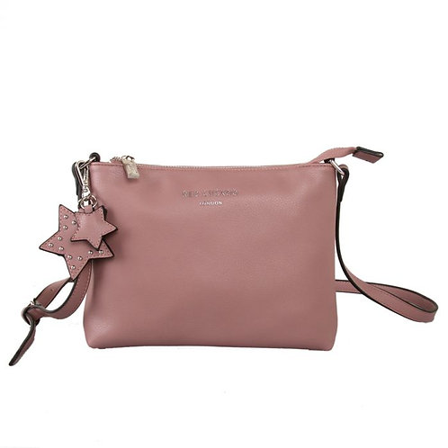 Red Cuckoo - Dusky Pink Stars Cross Body Bag