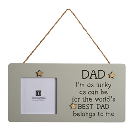World's Best Dad Belongs To Me - Hanging Photo Frame