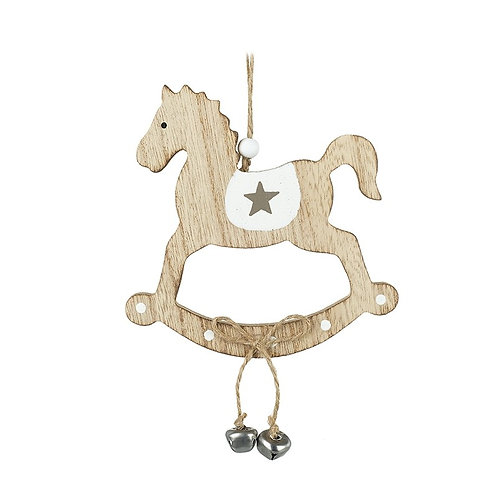 Wooden Rocking Horse With Bells