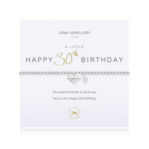 JOMA JEWELLERY - 'A Little' 30th Birthday Bracelet
