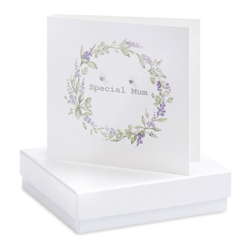 Special Mum - Sterling Silver Earrings Boxed Card