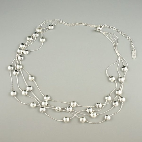 Beau - Multi Strand Silver Necklace