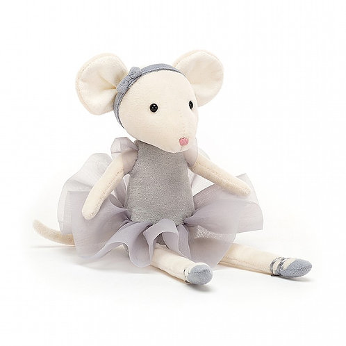 Jellycat - Pirouette Mouse - Pebble