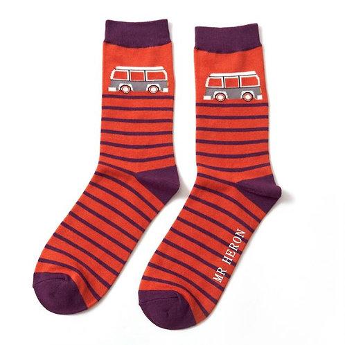 Mr Heron Men's Bamboo Socks - Camper Orange