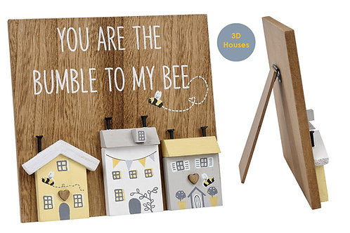 Bumble To My Bee -3D House Easel