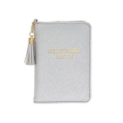 Soft Grey Passport Cover