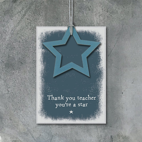 East Of India - Thank You Teacher Tag