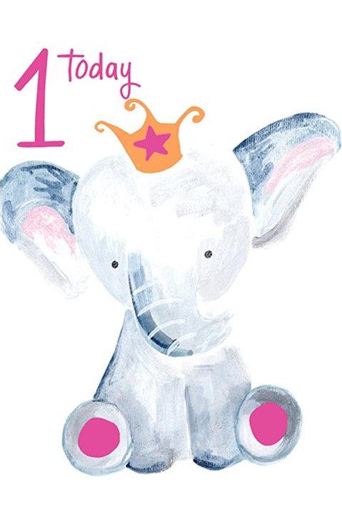 1st Birthday Card - Girl