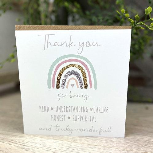 Thank You Rainbow - Card
