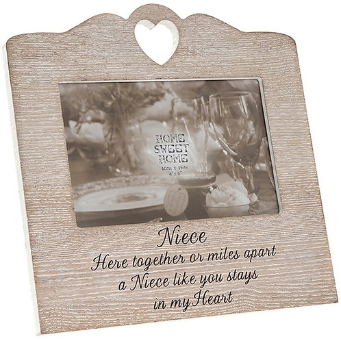 Niece - Rustic Wooden Photo Frame
