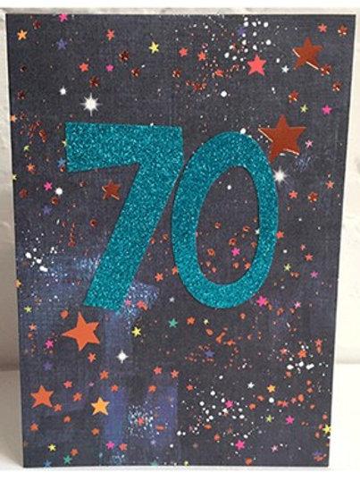 70th Birthday Card - Male