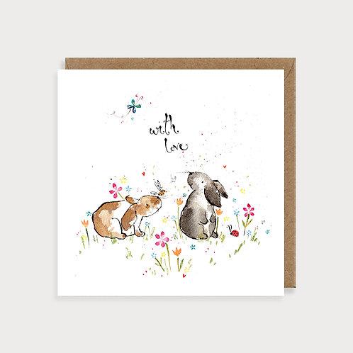 With Love - Bunnies Blank Card