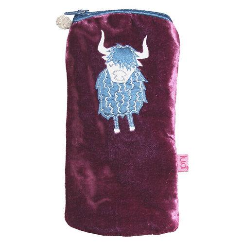 Lua - Highland Cow Velvet Glasses Pouch