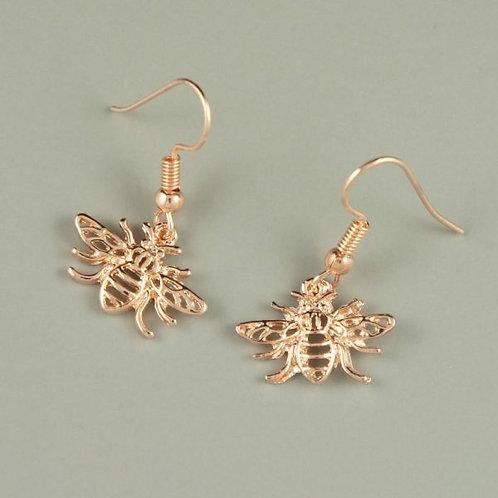Honey - Rose Gold Bee Earrings