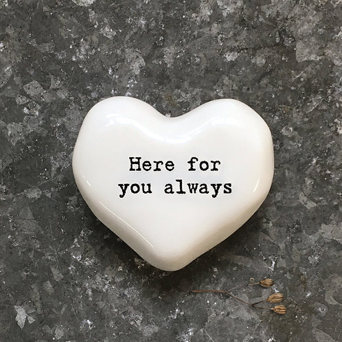 East Of India - 'Here For You Always' Token Heart