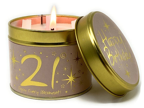 Lily Flame - Happy 21st Birthday Candle