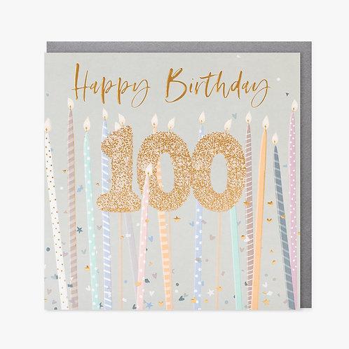 Birthday Candles - 100th Birthday Card
