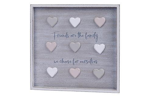 'Friends' 3D Heart Plaque