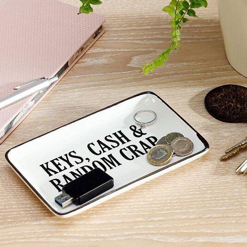 Keys, Cash & Random Crap - Ceramic Dish