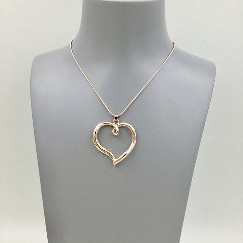 Rose Gold Heart - Short Necklace