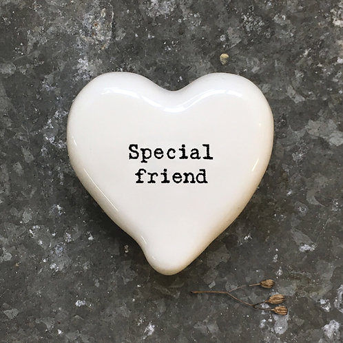 East Of India - 'Special Friend' Heart Token