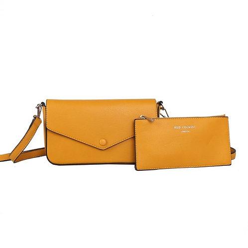 Red Cuckoo - Mustard Cross Body Bag & Matching Purse