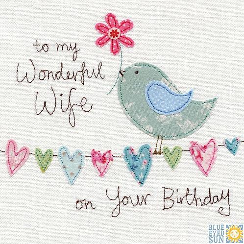 Wonderful Wife - Birthday Card