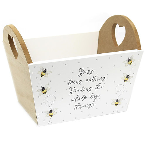 Busy Bee Reading Book Wooden Basket