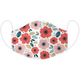 Adults Poppy Design Face Covering - Washable