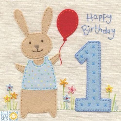 1st Birthday Card Boy