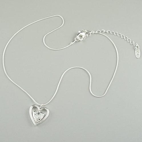 Koro - Silver Heart Short Necklace