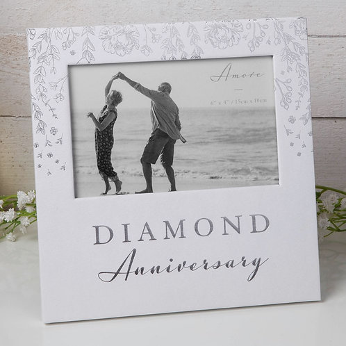 60th Diamond Wedding Anniversary - Photo Frame