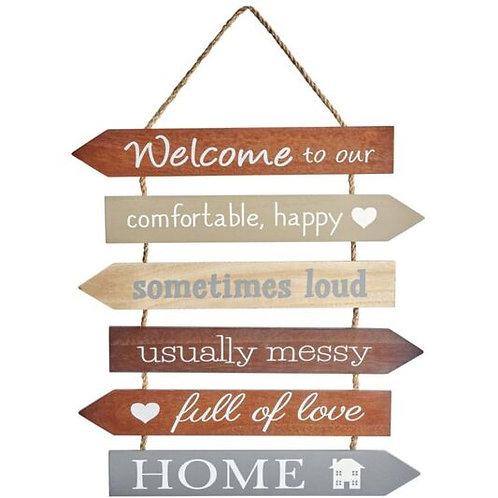 'Welcome To Our Home' Multi Arrow Sign
