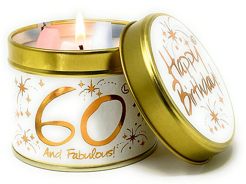 Lily Flame - Happy 60th Birthday Candle