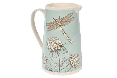 Dragonfly Hydrangea Jug