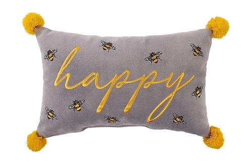 'Happy' Bee Cushion