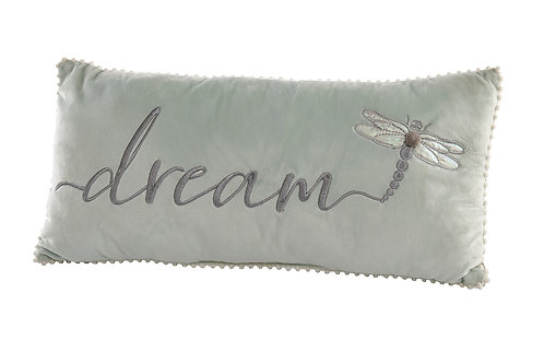 Dragonfly 'Dream' Embroidered Cushion