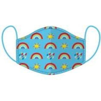 Kids Rainbow Face Covering - Washable